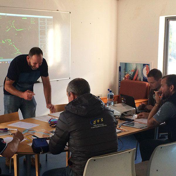 Maritime SAR team in a classroom
