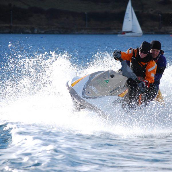 Maritime SAR team on a jet ski
